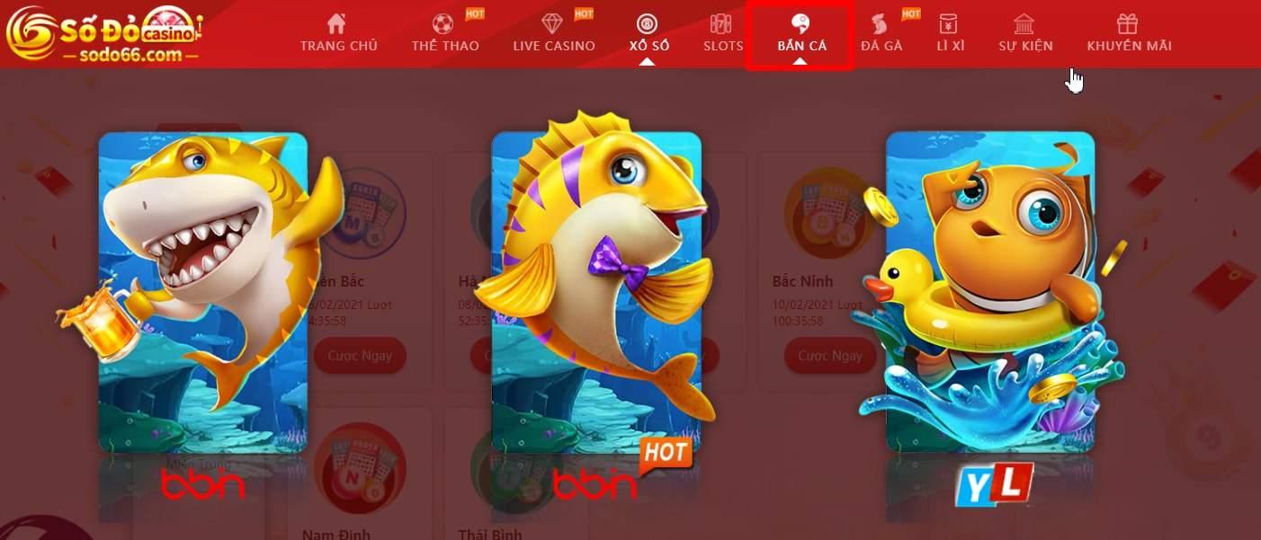 Chơi bắn cá đổi thưởng online Sodo Casino